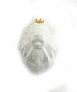 『好蠟』皇冠獅子擴香石,白色,附出風口夾子