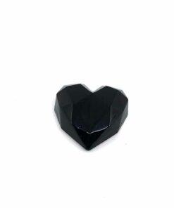 『好蠟』愛心擴香石,亮光黑色,附出風口夾子