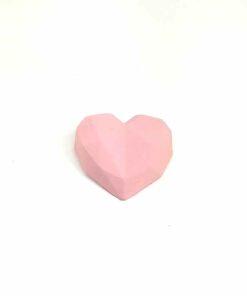 『好蠟』愛心擴香石,啞光粉紅色(淺粉紅),附出風口夾子