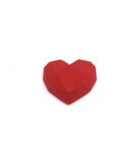 『好蠟』愛心擴香石,啞光紅色(淺紅色),附出風口夾子
