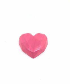『好蠟』愛心擴香石,亮光粉紅色(深粉紅),附出風口夾子