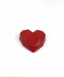 『好蠟』愛心擴香石,亮光紅色(深紅色),附出風口夾子
